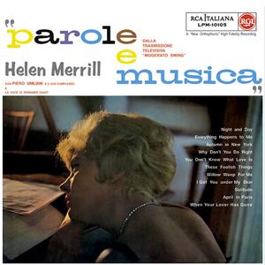 HELEN MERRILL CON PIERO UMILIANI E IL SUO COMPLESSO – PAROLE E MUSICA