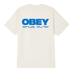 OBEY BOMB THE PLANET BASIC T-SHIRT