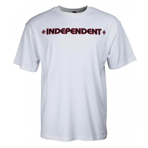 INDEPENDENT BAR CROSS T-SHIRT WHITE