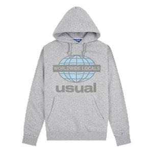 USUAL WORLDWIDE LOCALS OG GREY HOODIE