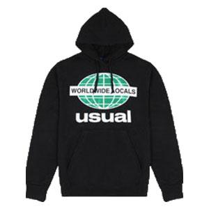 USUAL WORLDWIDE LOCALS OG BLACK HOODIE