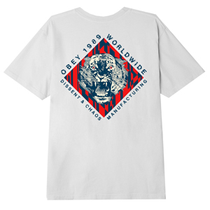 OBEY DISSENT & CHAOS TIGER T-SHIRT