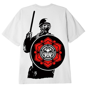 OBEY RIOT COP PEACE SHIELD CLASSIC T-SHIRT