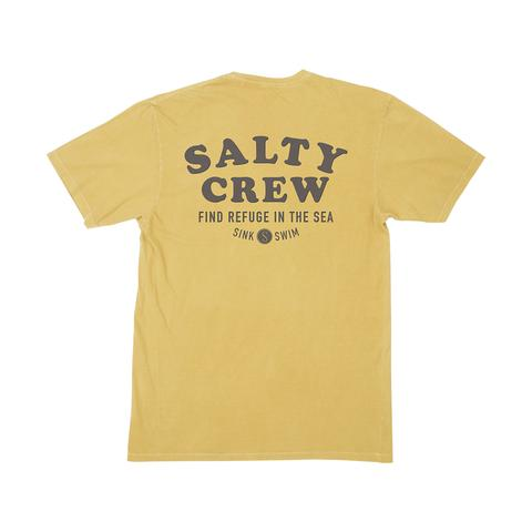 SALTY CREW INLET GOLD PREMIUM SS OVERDYED TSHIRT