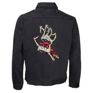 VINTAGE BONE HAND DENIM JACKET